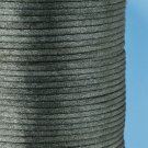 Satin cord, rattail, 2mm, grey, 5m