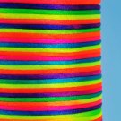 Satin cord, rattail, 2mm, neon-coloured, 5m