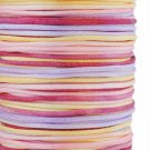 Satin cord, rattail, 2mm, multicolored, 5m