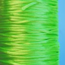 Satin cord, rattail, 2mm, neon green, 5m