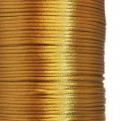 Satin cord, rattail, 2mm, antique gold, 5m