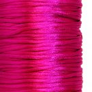 Satin cord, rattail, 2mm, dark cerise, 5m