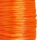 Satin cord, rattail, 2mm, orange, 5m