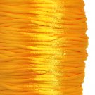Satin cord, rattail, 2mm, golden yellow, 5m