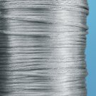 2mm satin cord rat tail, silver grey / light grey,kumihimo
