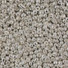 Seed beads, 2mm, silver