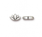 tierracast,bead,antique,silver,lotus,flower