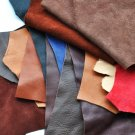 Vegetably tanned reindeer leather, waste pieces, 0.6-0.9mm thick, 5 pcs
