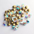 Glass rhinestone, 4.2mm, chaton, crystal AB, 20pcs