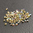Glass rhinestone, 2mm, chaton, clear AB, 1g- approx. 155pcs