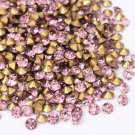 Glass rhinestone, 2mm, chaton, Light Amethyst, 1g- approx. 155pcs