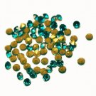 Glass rhinestone, 2mm, chaton, teal, 1g- approx. 155pcs