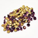 3mm chaton rhinestones, glass, dark purple