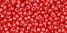 TOHO seed beads, storlek 11/0 (2.2mm), Opaque-Lustered Cherry, 10g