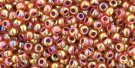 TOHO seed beads, storlek 11/0 (2.2mm), Inside-Color Rainbow Hyacinth/Opaque Purple Lined, 10g