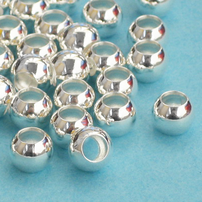 metal,round,bead,silver