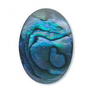 Cabochon, paua shell, blue, 25x18x1.5mm oval. Sold individually.