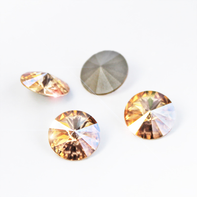Swarovski Rivoli (1122), golden shadow, silver-foil back, undrilled, avaliable in different sizes