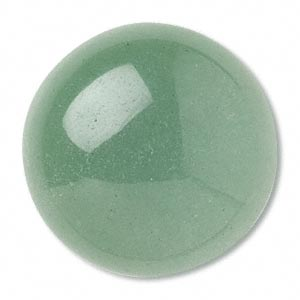 Cabochon, natural green aventurine, 20mm round, 1pc