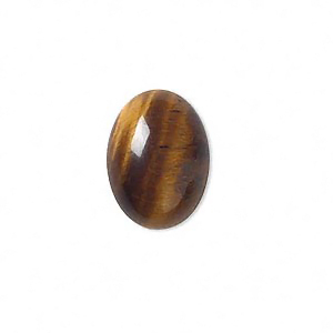 Cabochon, tigeröga, 18x13mm oval, 1st