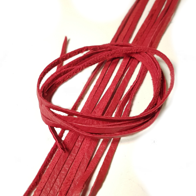 Cord, reindeerleather, 2x0.5mm, red, 80cm