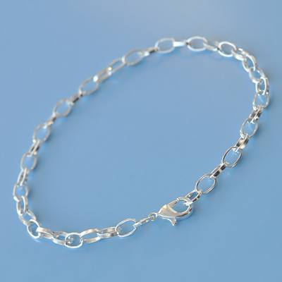bracelet chain,silverplated