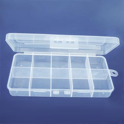 Fantastisk Förvaringslåda av klar plast med 10 fack, 18x10x3cm - Förvaring MZ-92