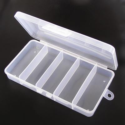 Toppen Förvaringslåda av klar plast med 5 fack, 18x10x3cm - Förvaring XK-93