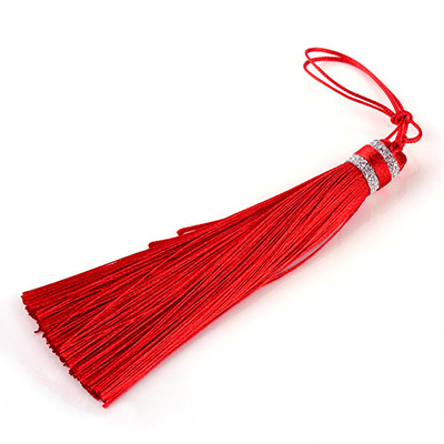 Tassels for malas, yoga jewelry and rosaries, red