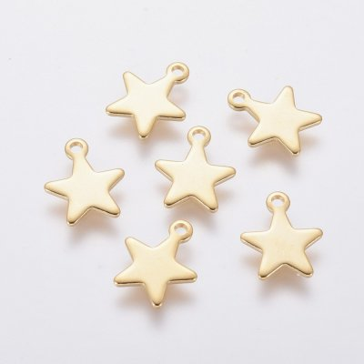 stars,stainless,steel,charms,pendant,golden