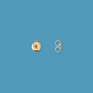 Earnut, 4.5mm, gold-plated, 20pcs