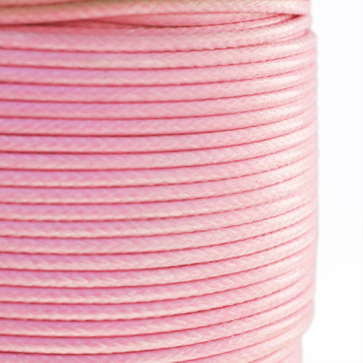 Vaxed nylon cord, 2mm, pink, 3m