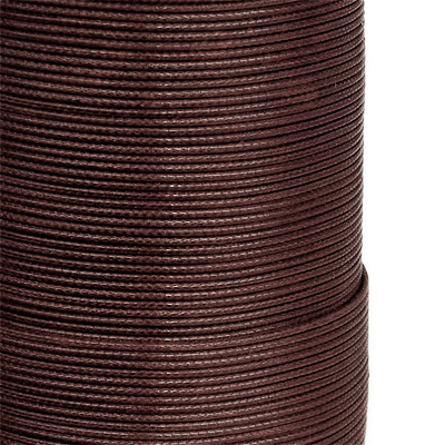 Waxed synthetic / nylon thread, 1mm, brown, 3m
