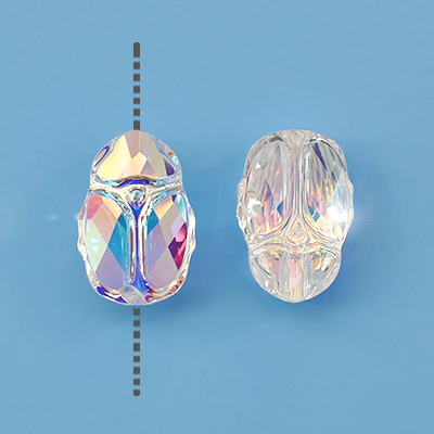 Swarovski Scarab bead, 12x8mm, crystal AB, 1pc