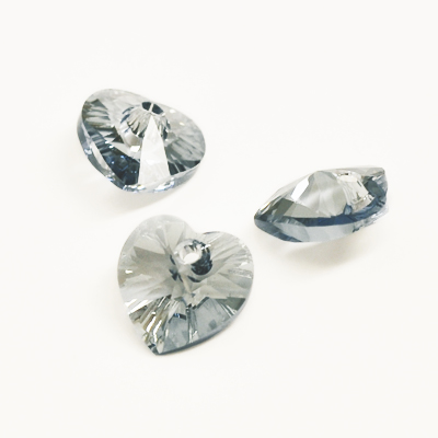 Swarovski 10mm Xilion heart (6228), crystal blue shade, 1st
