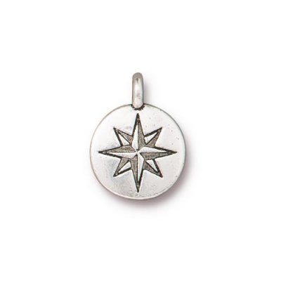 charm,antique,silver, north,star