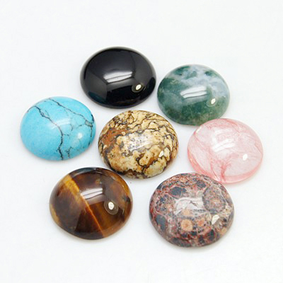 Gemstone,Cabochons,Half Round,Mixed