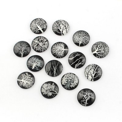 25mm round image cabochons, glass,tree of life