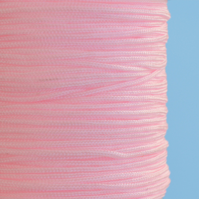 Imitation silk cord, 1mm, pink, 5m