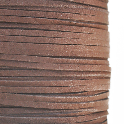 Band av imitationsmocka, 3x1.4mm, chokladbrun, 3m