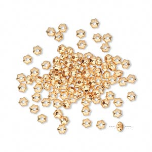 goldplated,star,bead,spacer