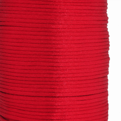 Satin cord, rattail, 2mm, red, 5m