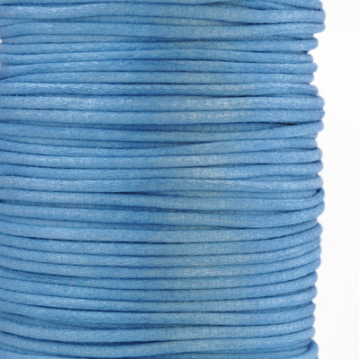 Satin cord, rattail, 2mm, blue, 5m
