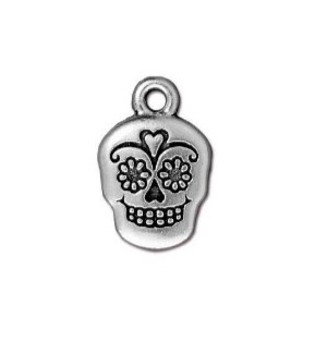 charms,silver,antique,sugar,skull