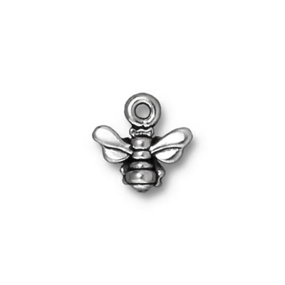 tierracast,antique,charm,silver,honey,bee
