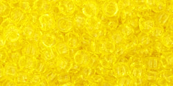 TOHO seed beads, storlek 8/0 (3.1mm), Transparent Lemon, 10g