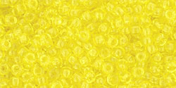TOHO seed beads, storlek 11/0 (2.2mm), Transparent Lemon, 10g
