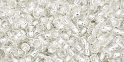 TOHO seed beads, storlek 11/0 (2.2mm), Silver-Lined Crystal, 10g
