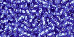 TOHO seed beads, storlek 11/0 (2.2mm), Silver-Lined Sapphire, 10g
