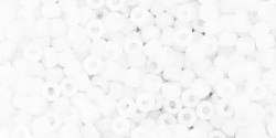 TOHO seed beads, storlek 11/0 (2.2mm), Opaque-Frosted White, 10g